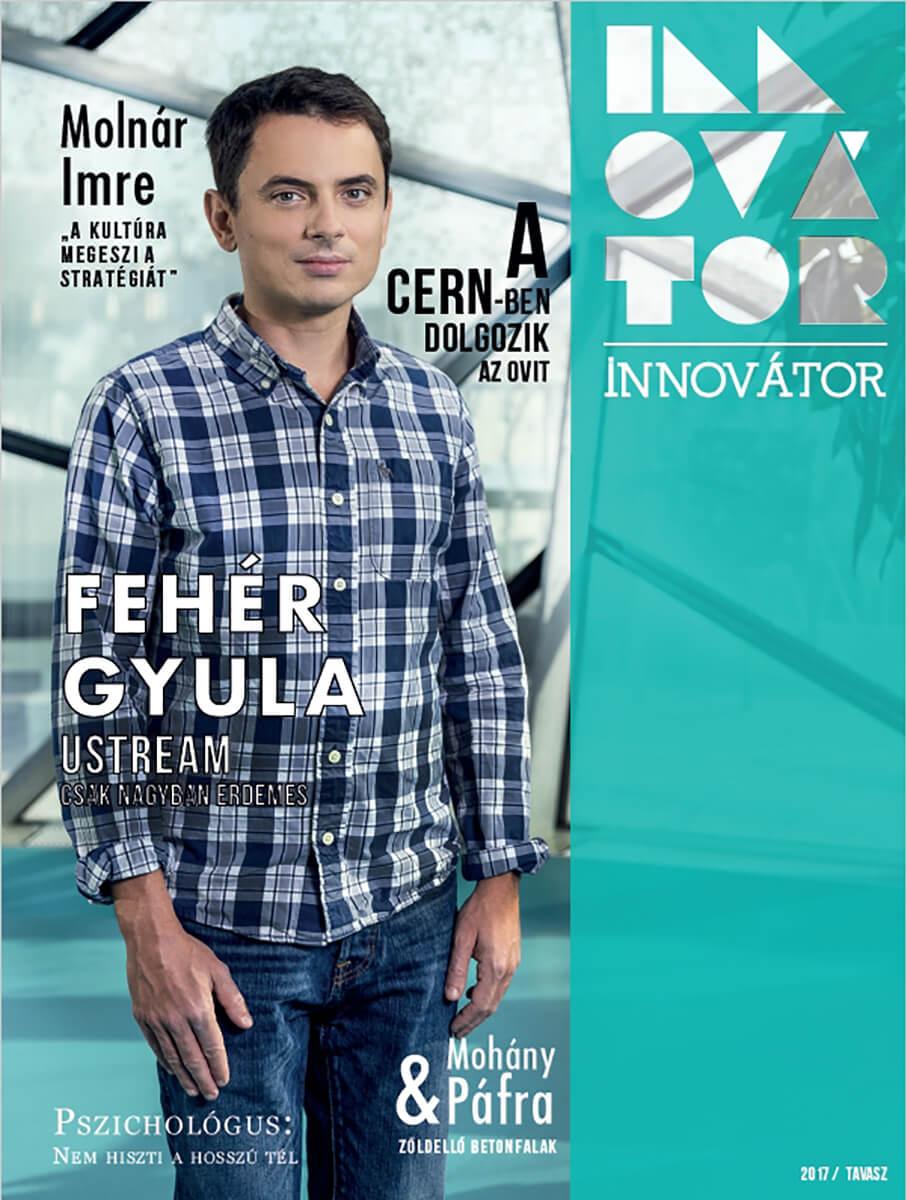 Magazinfotózás során készített Innovátor magazin címlap fotó.
