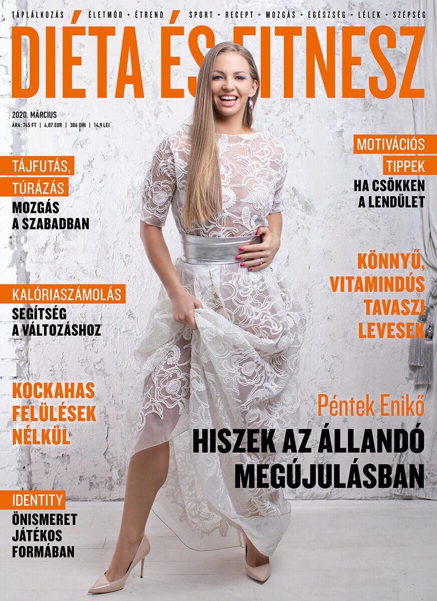 Magazinfotózás során készített Diéta és Fitnesz címlap fotó.